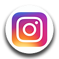 Instagram logo in a circle.