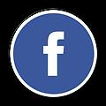 Facebook logo in a circle