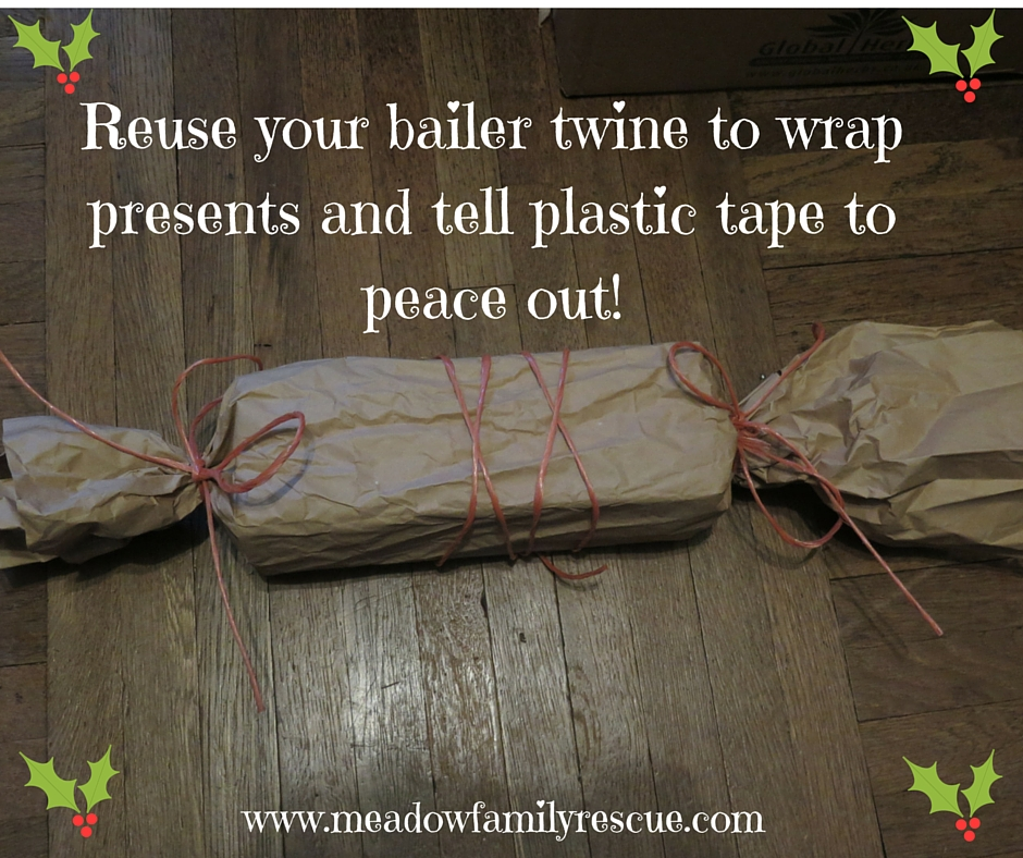 Reuse your bailer twine to wrap presents and tell plastic tape to peace out!.jpg