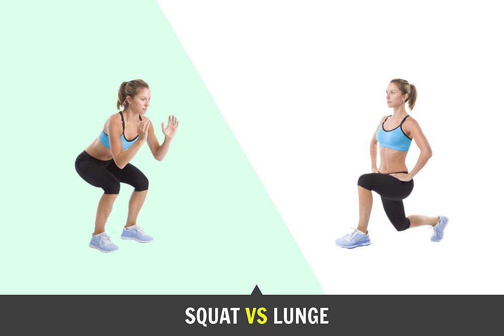 Squat position vs lunge position