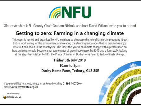 EVENT: Getting to Zero: Farming in a changing climate - 5th July