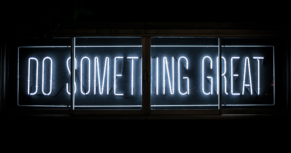 neon sign, do something great, inspire, inspirational