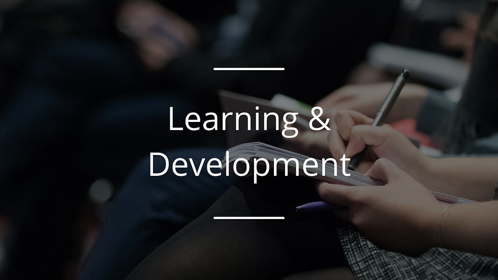 Inspired Learning Award : The L & D Award