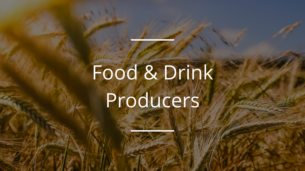 Farm to Fork Award : food and drink producers