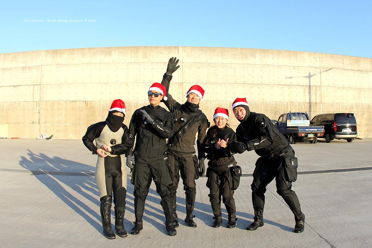 제주도 크리스마스 다이빙 제로그래비티