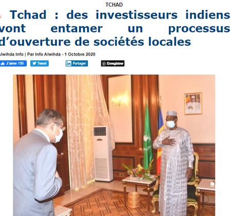 REVUE DE PRESSE AFRICAINE ET INTER EDITION DU JEUDI 01 10 2020.