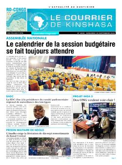 REVUE DE PRESSE AFRICAINE ET INTER EDITION DU MERCREDI 30 09 2020.