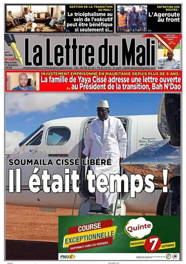 REVUE DE PRESSE AFRICAINE ET INTER EDITION DU MERCREDI 07 10 2020.