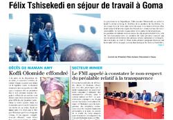 REVUE DE PRESSE AFRICAINE ET INTER EDITION DU MARDI 06 10 2020.