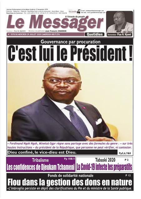 REVUE DE PRESSE AFRICAINE ET INTER EDITION DU MERCREDI 29 07 2020.