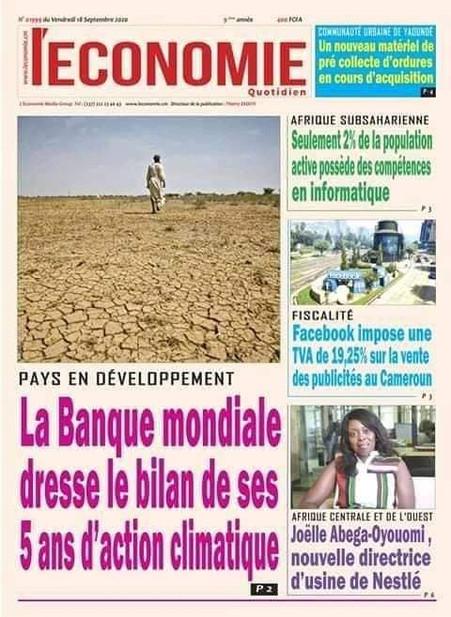 REVUE DE PRESSE AFRICAINE ET INTER EDITION DU VENDREDI 18 09 2020.