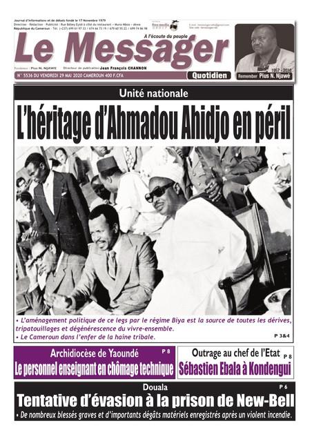 REVUE DE PRESSE AFRICAINE ET INTER EDITION DU VENDREDI 29 05 2020.