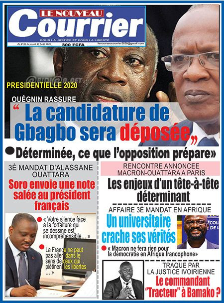 REVUE DE PRESSE AFRICAINE ET INTER EDITION DU JEUDI 27 08 2020.