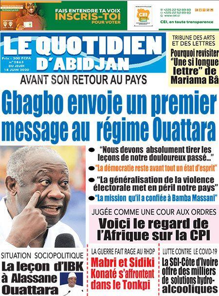 REVUE DE PRESSE AFRICAINE ET INTER EDITION DU JEUDI 18 06 2020.