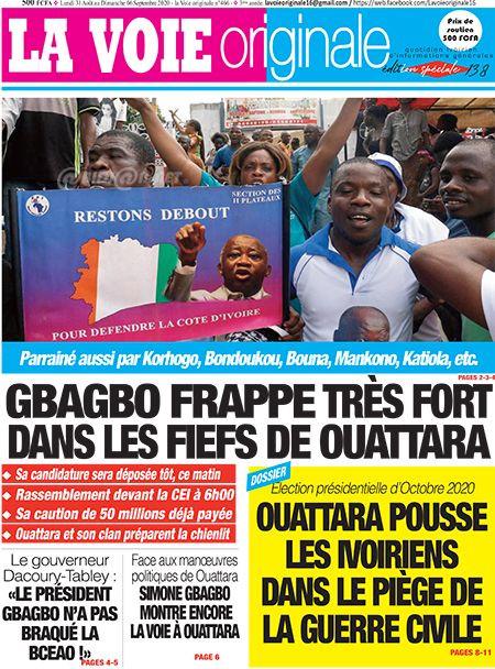 REVUE DE PRESSE AFRICAINE ET INTER EDITION DU LUNDI 31 08 2020.
