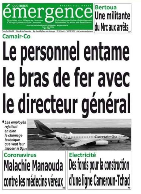 REVUE DE PRESSE AFRICAINE ET INTER EDITION DU MARDI 23 06 2020.