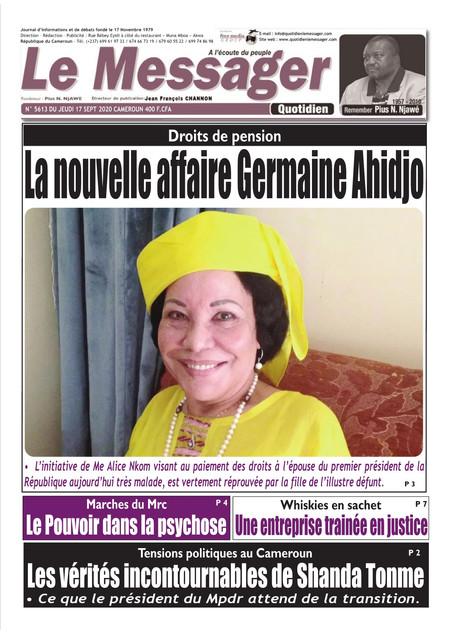 REVUE DE PRESSE AFRICAINE ET INTER EDITION DU JEUDI 17 09 2020.