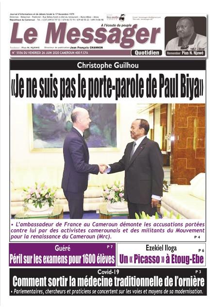REVUE DE PRESSE AFRICAINE ET INTER EDITION DU VENDREDI 26 06 2020.