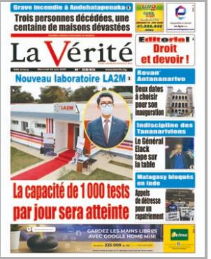 REVUE DE PRESSE AFRICAINE ET INTER EDITION DU MERCREDI 24 06 2020.