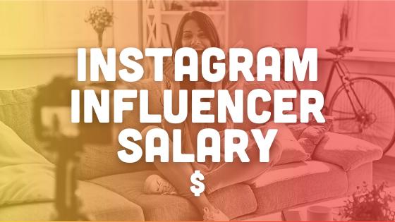 Instagram influencer salary header