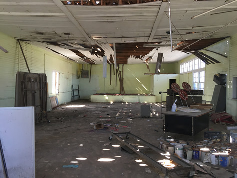 Inside the White Building After Clearance of Junk