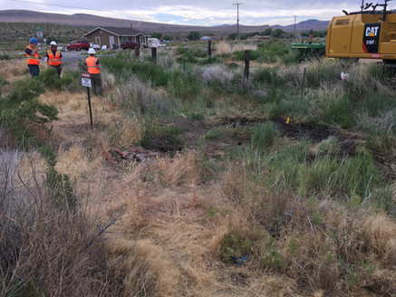 Identifying Soil Test Pit Locations at the Oil Pit