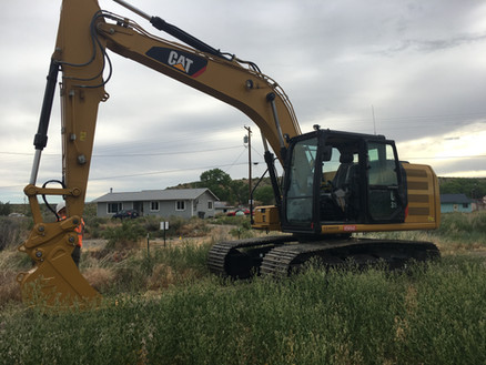 A CAT 316F Ready to Excavate