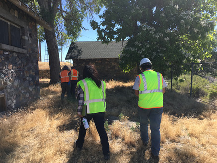 The Crew Walking Towards More Soil Sampling Locations