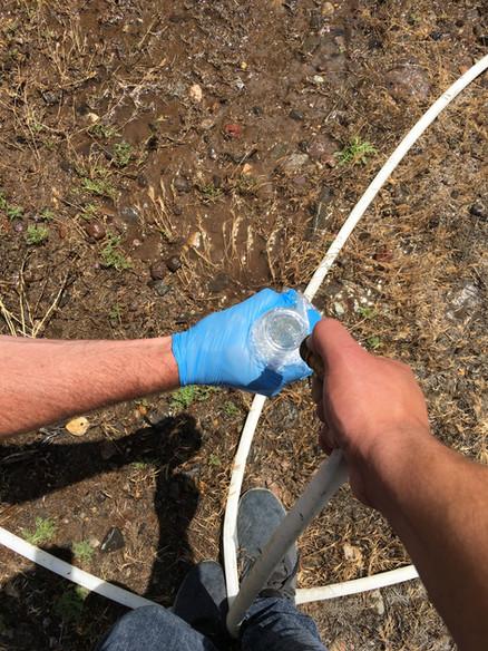 Groundwater Sampling at Urrutia