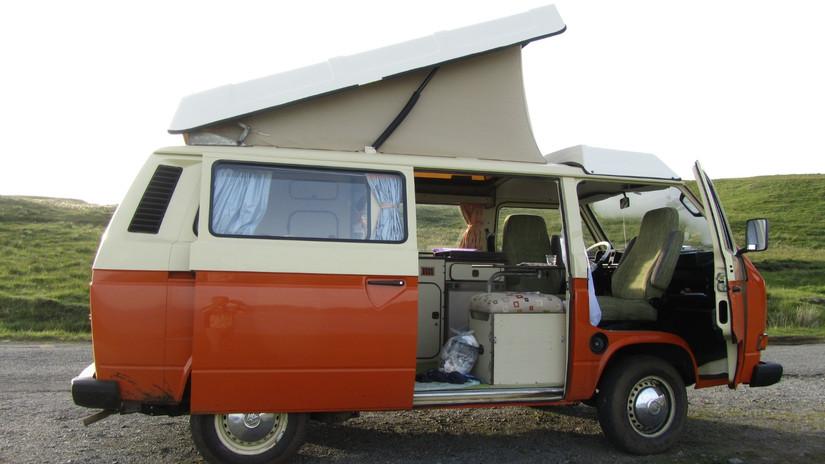 vw T3 camper huren - kamperen in een ret