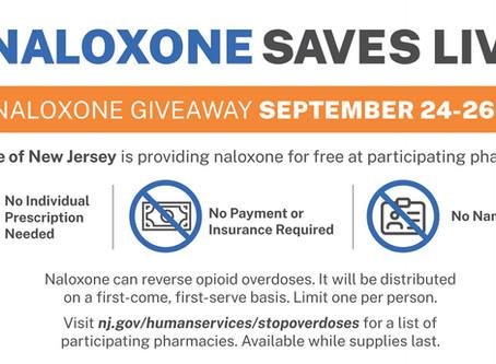 September 22, 2020 - Free Naloxone Giveaway
