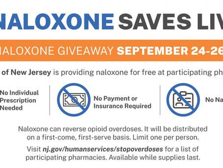 September 22, 2020 - Free Naloxone Giveaway