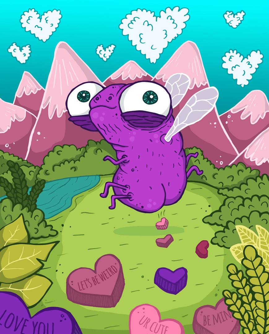 LoveBug Valentine's Day Illustration | Lauren Ramer Cartoons