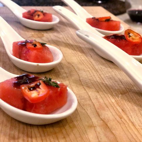 Chili-infused Watermelon