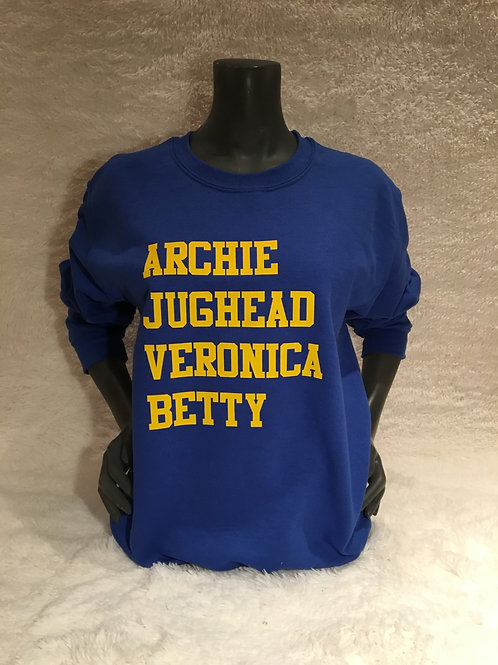 Riverdale Names Sweatshirt