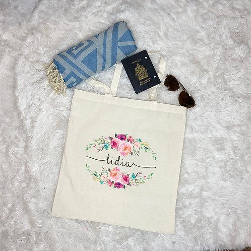 Custom Floral Tote Bag