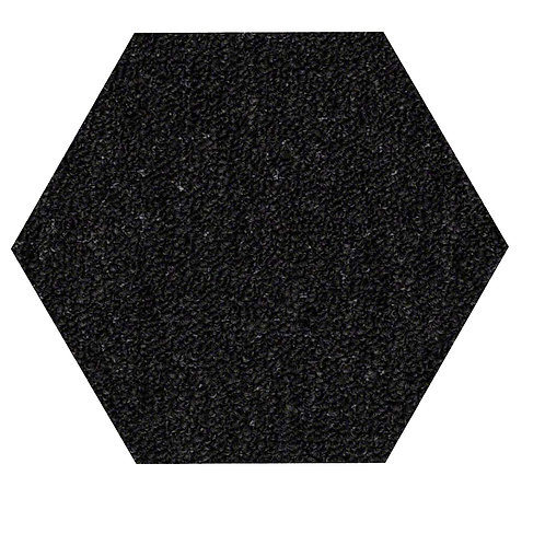 27 Ground Indoor Outdoor Commercial Hexagon Shape Area Rugs Black