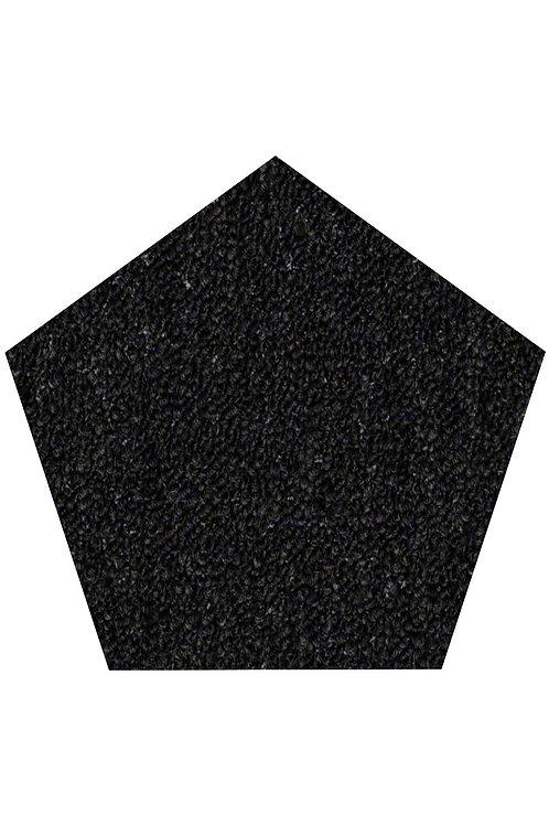 27 Ground Indoor Outdoor Commercial Pentagon Shape Area Rugs Black