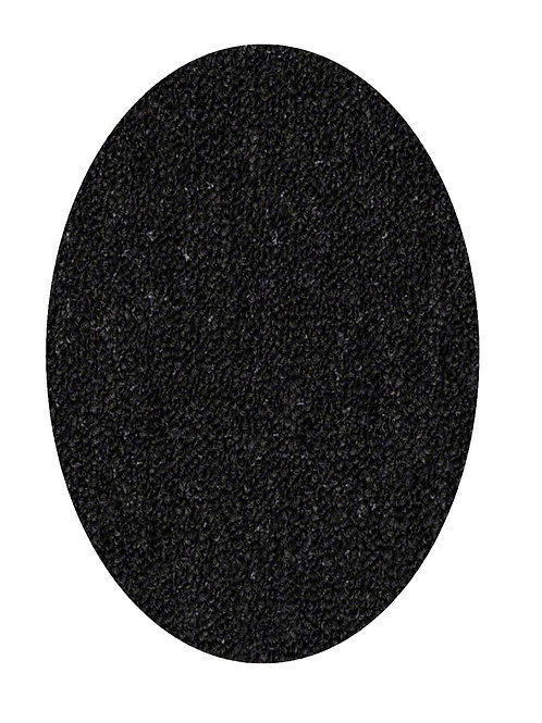 27 Ground Indoor Outdoor Commercial Oval Shape Area Rugs Black