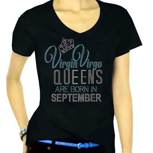 VIRGIN VIRGO QUEENS  BLING TEE