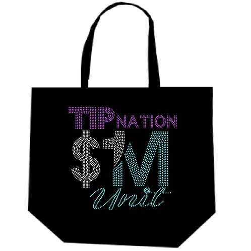 TIP AREA MILLION BLING TOTE