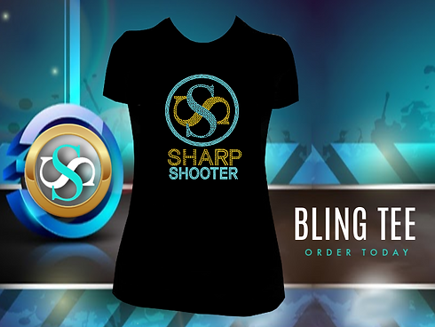 SHARPO SHOOTER WEBSITE POST BLING TEE 2