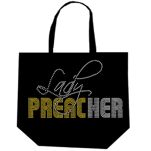 LADY PREACHER BLING TOTE