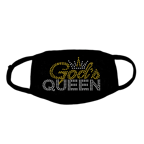 GOD'S QUEEN BLING MASK