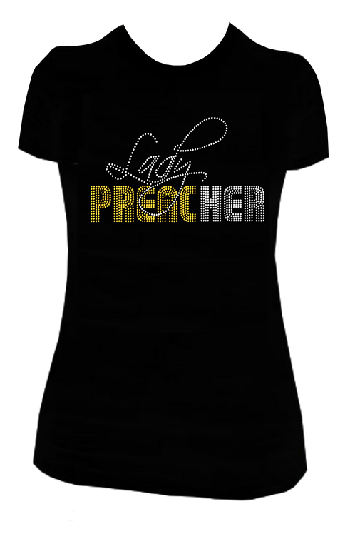 LADY PREACHER BLING TEE