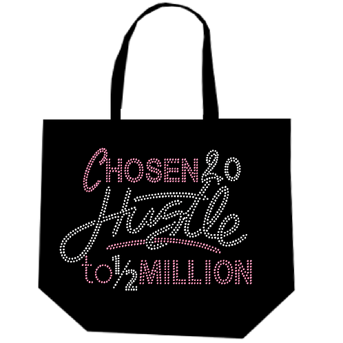 HUSTLE TO 1/2 MILLION BLING TOTE