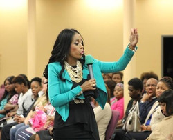 Dr. Yvonne Capehart Photo speaking 1
