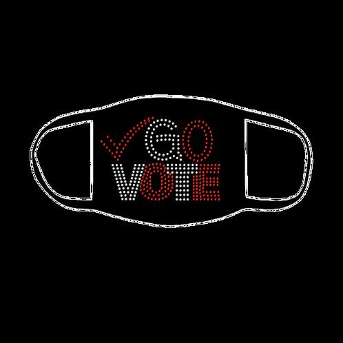 GO VOTE BLING MASK