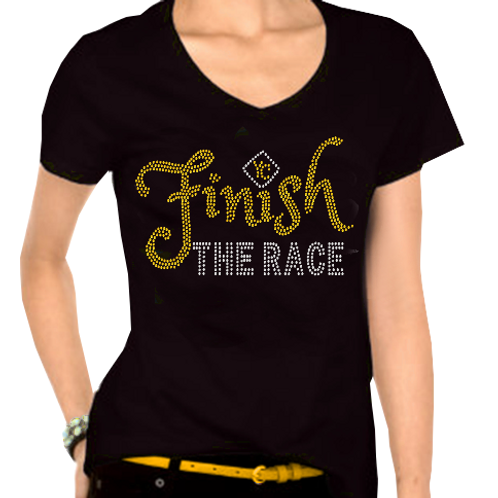 FINISH THE RACE BLING TEE