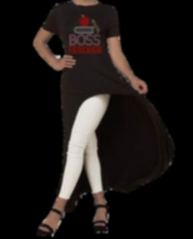 Long Black Top Short Sleeves BOSS TEACHE
